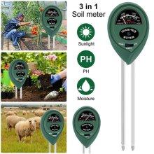 3 in1 Soil Tester Water Light PH Moisture Test Meter Plants Flower Humidity Kit