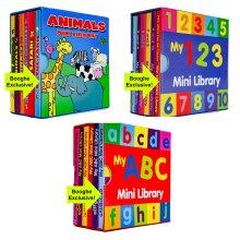 3 Sets of 6 Children Mini Library Board Books (18 Books)