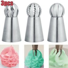 3pcs/set Flower Tips Icing Piping Nozzles Pastry Cupcake Decorating Baking Tools