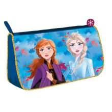 pouch girls 20 cm polyester blue/gold