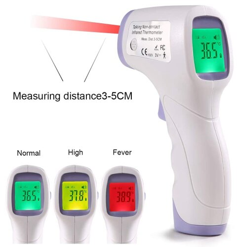 Non-Contact Forehead Gun, Forehead Thermometer, Infrared Thermometer