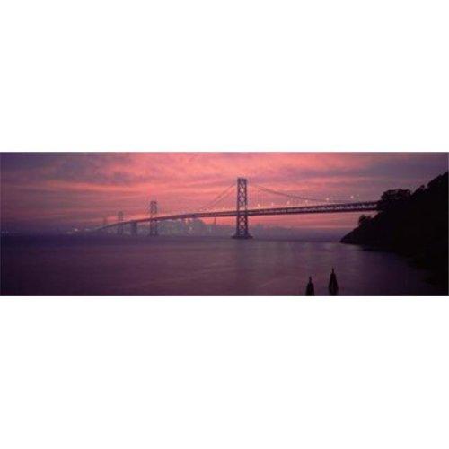 Bridge across a sea  Bay Bridge  San Francisco  California  USA Poster Print by  - 36 x 12