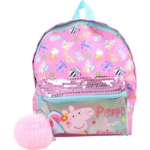 Peppa Pig Junior School Rucksack Backpack with Sequins