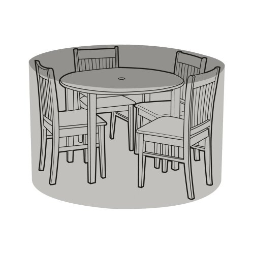 4 Seater Round Table & Chairs Cover - Super Tough Polyethylene
