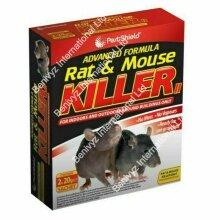 2 x 20g RAT MOUSE POISON BAIT KILLER -ADVANCED FORMULA-RODENTS CONTROL