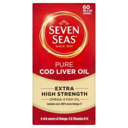 Seven Seas Pure Cod Liver Oil Extra High Strength 60 Capsules