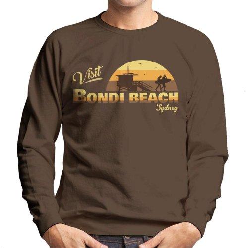 Visit Bondi Beach Retro Beach Men's Sweatshirt