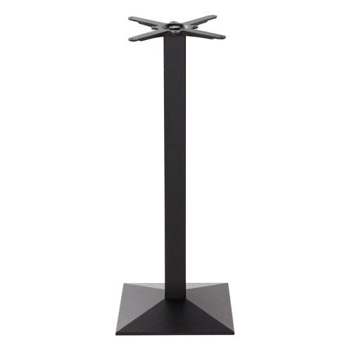 Black cast iron pyramid table base - Medium - Poseur height - 1050 mm