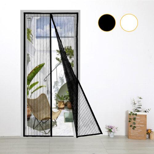 (Black ) Magic Curtain Door Mesh Magnetic Mosquito Net