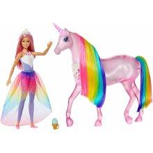 Barbie Dreamtopia Magical Lights Unicorn and Princess Barbie Doll