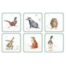 Wrendale Zoological Set of 6 Coasters