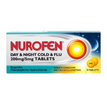 Nurofen Cold And Flu Day & Night 200mg - 16 Tablets