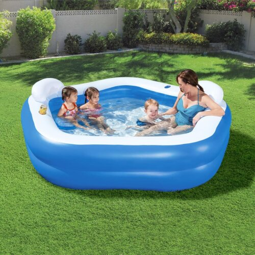 Bestway Family Fun Lounge Pool Entertainment Swimming Inflatable Family Pool