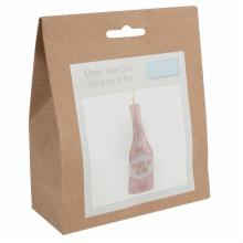 Felt Decoration Kit: Bottle of Fizz