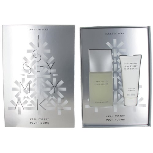 Issey Miyake L'Eau d'Issey Pour Homme 75ml Toilette Spray and 100ml Shower Gel Christmas Gift Set for Men
