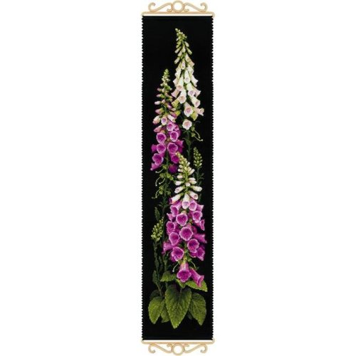 Riolis R1629 7.5 x 35.5 in. Foxgloves Counted Cross Stitch Kit - 14 Count