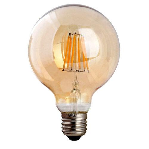 (Dimmable E27 Amber Glass) Vintage Filament LED Edison Bulb Dimmable E27Light