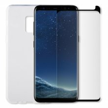 Caseit Bundle Samsung Galaxy S8 Clear Cover & Glass Screen Protector