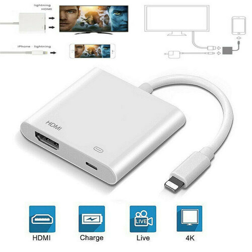 4K for iPhone to HDMI HD TV Projector  Adapter For Apple IOS iPad