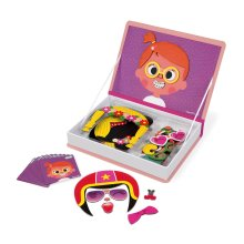 Janod J02717 Magneti'Book Crazy Faces Educational Game, Girls