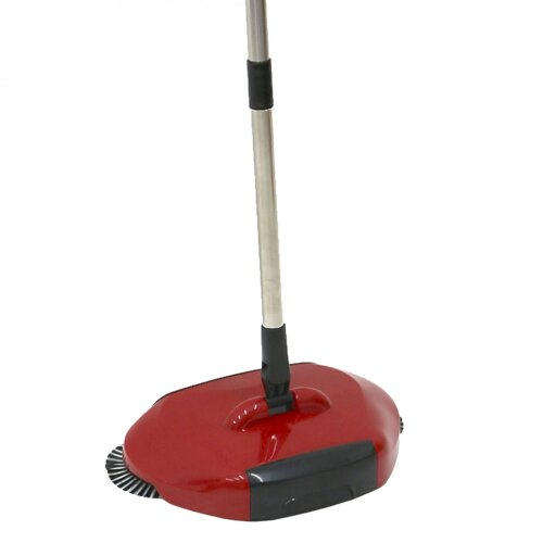 Oypla 360Â Spin Hand Push Manual Household Floor Sweeper Brush Broom