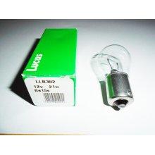 LUCAS 382 1156 BA15S CAR SIDE LIGHT BULB BAYONET LAMP LLB382 12V 21W
