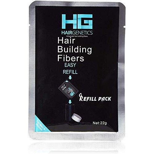 Hair Genetics® Advanced Keratin Hair Building fibres Large 22g Refill Pack, Natural & Thick Amazing New Concept to Save Money, Professional Hair Los