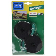 Wolfcraft 3421000 Belt Clamps (2) with Spring Lock, 4m, Tension: 120 kg