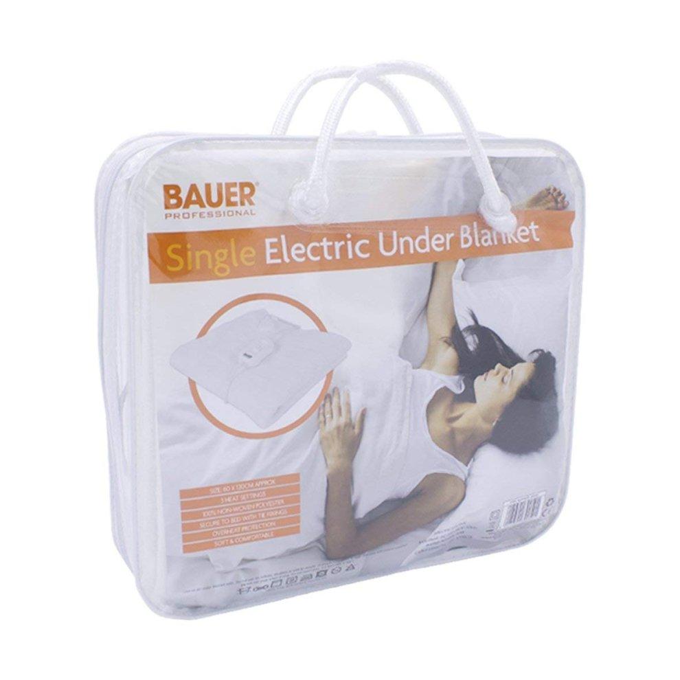 Bauer Single Electric Under Blanket 3 Heat 60x120cm on OnBuy