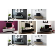 High Gloss TV Stand Entertainment Cabinet - Floating Wall Mounted TV Unit - 180cm
