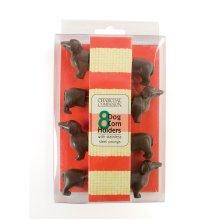Charcoal Companion Dog Corn Holders (Set of 4)
