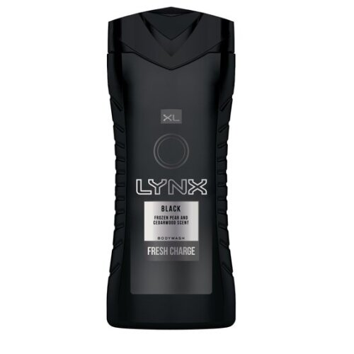 Lynx XL Black Fresh Charge Pear & Cedarwood Shower Gel - 400ml | Fragrant Men's Bodywash