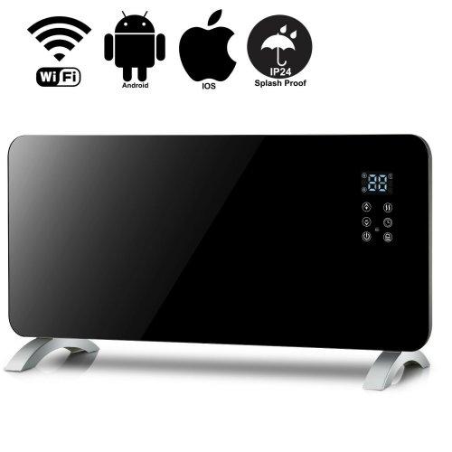 Hausmaster Smart WIFI App Control 2000W Black Glass Panel Heater
