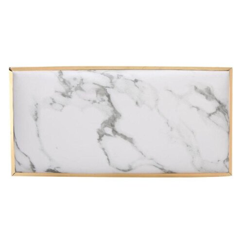 (Marble) Nail Art Hand Pillow Pu Leather Manicure Arm Rest Cushion