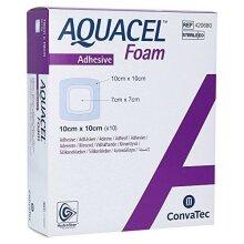 Aquacel Foam Adhesive Silicone Hydrofiber Dressing 10x10cm 420680 (x10)