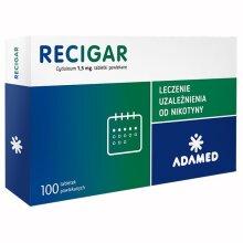 Recigar 100 Tabs FULL TREATMENT Nicorette NiQuitin SMOKING CESSATION