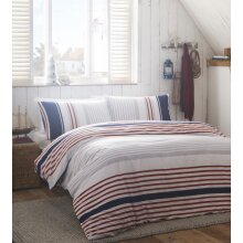Portfolio Luxury Nautical Stripe Duvet Quilt Cover Reversible Modern Bedding