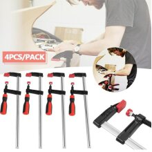 4Pcs Heavy Duty F Clamps Woodworking Bar Clamps Hand Tool Kit 50*300mm