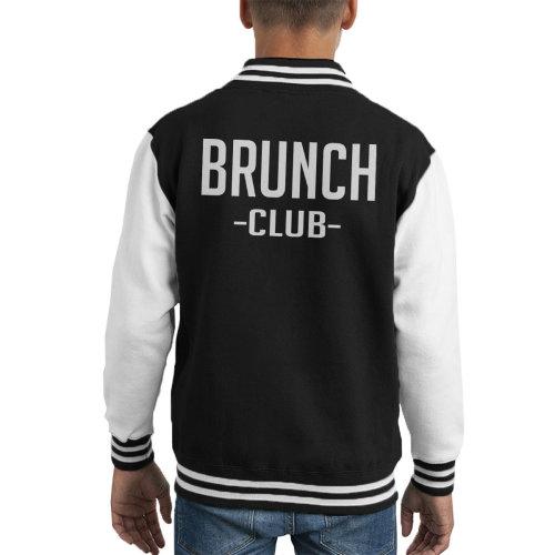 Brunch Club Bold White Kid's Varsity Jacket