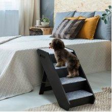 4 Steps Folding Wooden Pet Stair