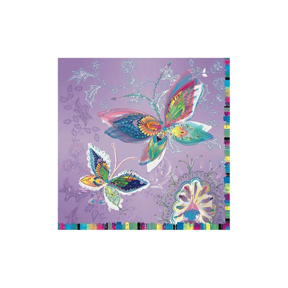 Silver Moon Butterflies Ideal for Decoupage Napkin Art 4 x Paper Napkins
