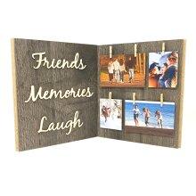 Friends Memories Laugh Wood Photo Frame