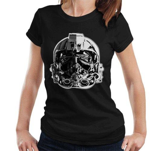 Original Stormtrooper Imperial TIE Pilot Helmet Monochrome Effect Women's T-Shirt