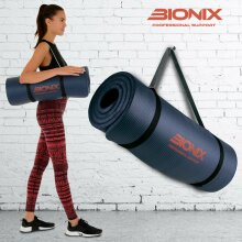 Yoga Mat Large Thick 183cm X 61cm Non Slip With Carrier Strap Exercise Pilates Gym Work Mats Ship from UK