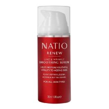 Natio Renew Smoothing Serum - 30ml Helps Restore Youthful Vitality to Ageing Skin