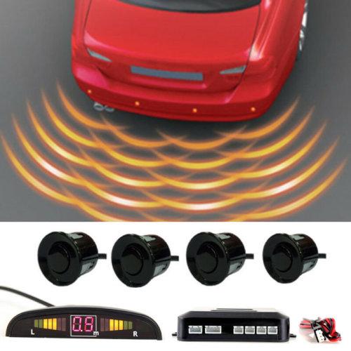 Car Rear Reversing Parking Sensors 4 Sensors Audio Buzzer Alarm LED