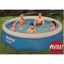 "Bestway 10ft x 30"" Fast Set Swimming Paddling Water Pool"