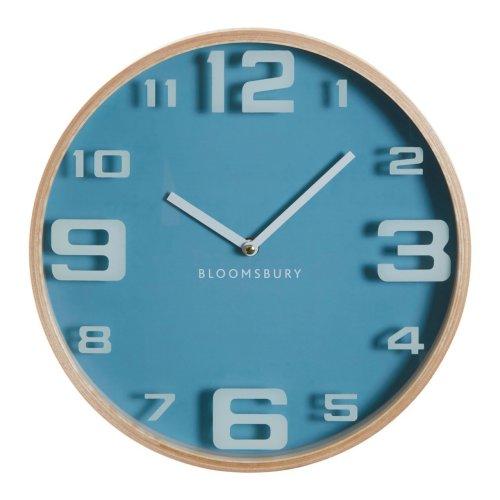Vitus Blue Wood Large Numbers Wall Clock