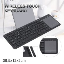 2.4G Slim Wireless Touch Keyboard With Touchpads For Computer PC Laptop