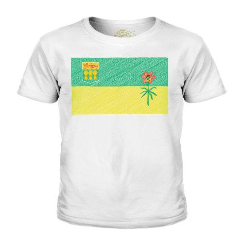 Candymix - Saskatchenwan State Scribble Flag - Unisex Kid's T-Shirt
